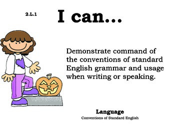 Pumpkinkids 2nd grade English Common core standards posters