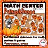 FALL MATH CENTER ACTIVITIES Pumpkinoes Domino Math Games and Math Centers