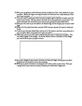 Pumpkinology student worksheet