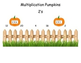 Pumpkins 2 Times Table Game (File Folder)