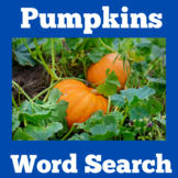 Pumpkins | Worksheet Word Search | Kindergarten 1st 2nd 3r