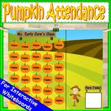 Pumpkin Attendance for Smartboard | Attendance Sheet Editable Attendance Chart