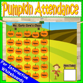 Pumpkin PowerPoint Attendance Boards Kindergarten or First Grade