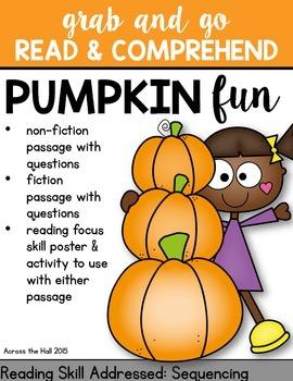 Pumpkins Comprehension Activities