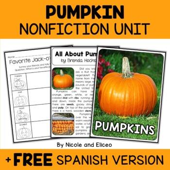 Nonfiction Pumpkin Unit Activities