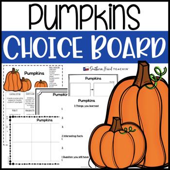 Pumpkins Choice Board
