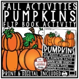 All About Pumpkins Flip Book- Fall Writing Activities Pumpkin Life Cycle