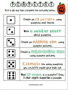 Pumpkin Literacy and Math Activities