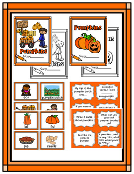 Pumpkins * Pumpkin Writing Center * 1st Grade Writing