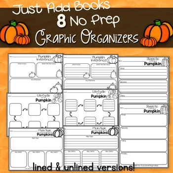 Pumpkin Reading Response Graphic Organizers for Any Pumpkin Non-Fiction Book