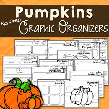 Pumpkin Reading Response Graphic Organizers for Any Pumpki