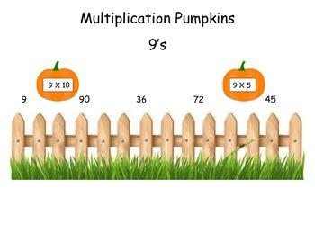 Pumpkins 9 Times Table Game (File Folder)