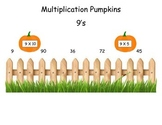 Pumpkins 9 Times Table Game (File Folder)