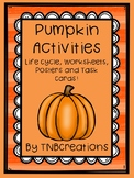 Pumpkins Life Cycle Activities - Worksheets, Task Cards, P