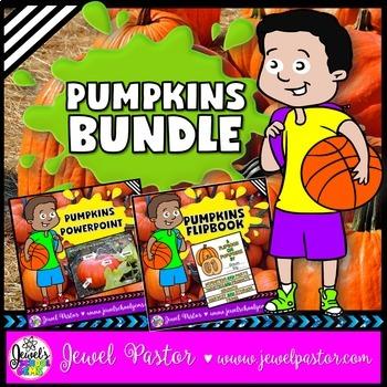 Pumpkins Activities BUNDLE (PowerPoint and Flipbook)