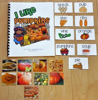 "Pumpkins Adapted Book--""I Like Pumpkins"""