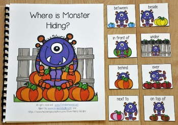 "Pumpkins Adapted Book--""Where is Monster Hiding?"""