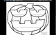 Pumpkins Affix Game in Black and White Version