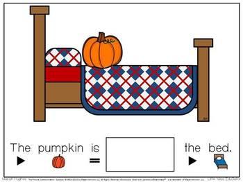 Pumpkins All Around - Interactive Pumpkin Preposition Story