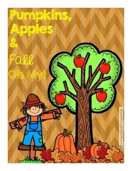 #falloween Pumpkins, Apples and Fall Mini Unit - Craft, Wr