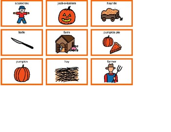 Pumpkins Bingo! Single Board [speech therapy and autism]