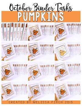 Pumpkins Bundle- Independent Work Binder System