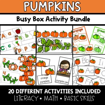 Pumpkins Busy Boxes **BUNDLE**