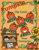 Pumpkins CVC Clip Card Literacy Centers