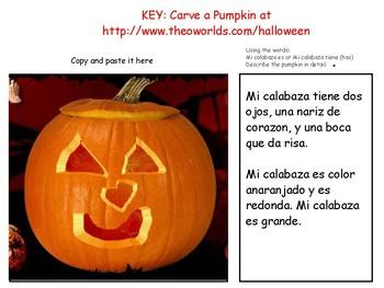 Pumpkins/Calabazas Tech/Spanish/Unit Language Exploration