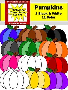 Primary Colors Halloween Pumpkin Clipart