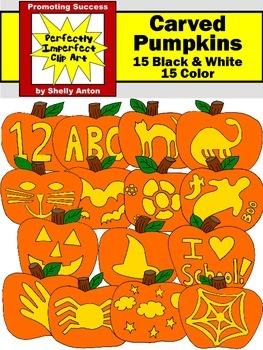 Halloween Clipart JACK O' LANTERNS Clip Art Pumpkins Clip Art  Commercial Use
