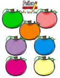 Pumpkins Clip Art - bright colors