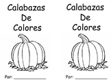 Pumpkins Color Words Book in Spanish