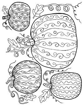 Pumpkins Coloring Page