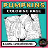 Pumpkins Coloring Page | Fall, Autumn, or Halloween | Adult Coloring Page