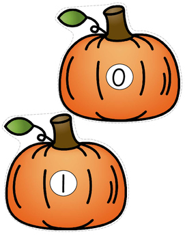 Pumpkins Counting Center for Preschool 0-10 FREE