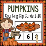 Dollar Deals! Pumpkins Counting Clip Cards 1-10
