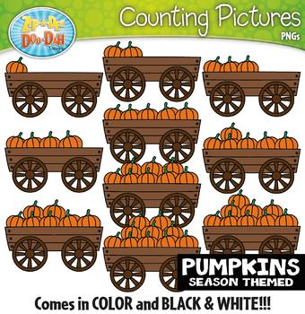 Pumpkins Counting Pictures Clipart {Zip-A-Dee-Doo-Dah Designs}