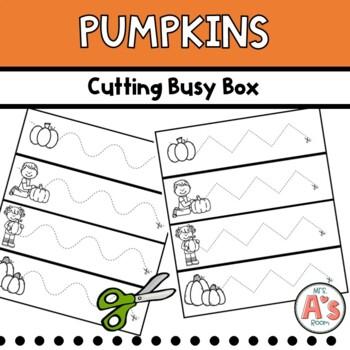 Pumpkins Cutting Busy Box **FREEBIE**
