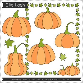 Pumpkins Digital Clipart