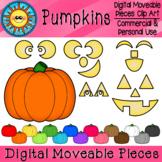 Pumpkins Digital Moveable Clip Art