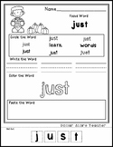 Pumpkins - Editable Word Worksheet w/ Theme Focus