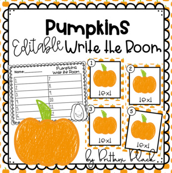 Pumpkins~ Editable Write the Room