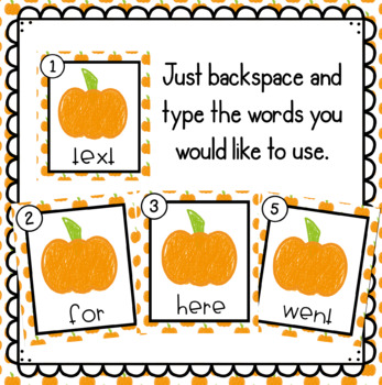 Pumpkins- Editable Write the Room