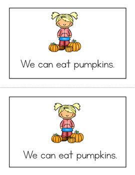 Pumpkins Emergent Reader
