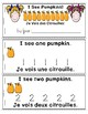 Pumpkins Emergent Reader in English and French: I See Pumpkins!