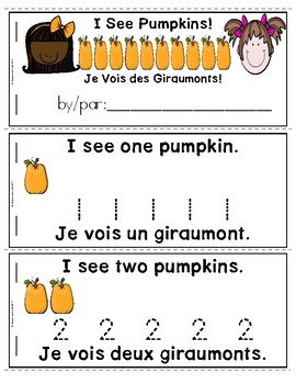Pumpkins Emergent Reader in English and French: I See Pumpkins! (Haiti)
