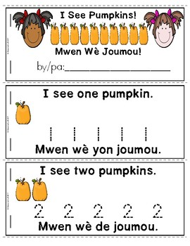 Pumpkins Emergent Reader in English and Haitian Creole: I See Pumpkins! (Haiti)