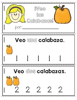 Pumpkins Emergent Reader in Spanish: I See Pumpkins!