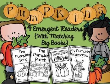 Pumpkins!  4 Emergent Readers and Big Books